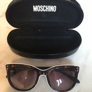 Moschino Sunglasses Brown White Plastic Frames